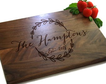 Personalized Cutting Board, Chopping Board, Wedding Gift, Personalised Cutting Board, Housewarming Gift, Gifts For Couples, Gifts, PTHB001