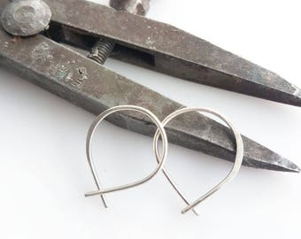 Super Tiny Perfect Hoops in Sterling Silver - Small Minimalist Everyday Lightweight Hoop Earrings Handmade by Queens Metal