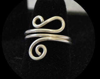 """Adjustable ring 14K gold filled or sterling silver.  hand made.  """"totally twisted"""""""