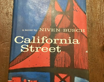 Midcentury novel California Street mcm book with illustrations