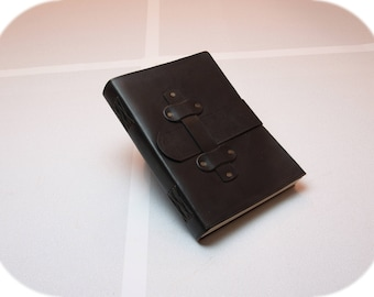 Leather Diary - Sketchbook - Journal   *Slider-Lock*