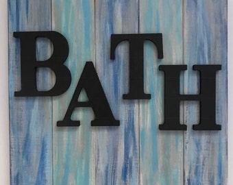 Bath Wall Sign - Bathroom Wall Decor - Farmhouse Bathroom Decor - Coastal Bathroom Decor - Beach Bathroom Decor - Bath Wood Sign - Bathroom
