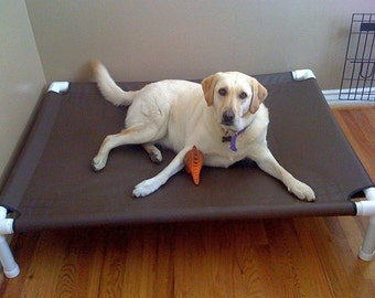 Large Dog Bed, Raised Dog Bed, Medium Bed, Large Dog Bed Cot Rust Proof PVC Pipe Cot, Outside Bed, 44x44 Canvas 13 Colors, Up To 130 Pounds.