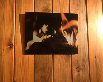 Fire - metal print