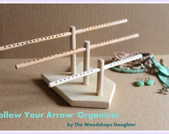 Follow Your Arrow Earring Organizer, Earring Holder, Hair Tie Holder, Bracelet Holder, Ring Dish, Retail Fixture, Craft Show Display Rack