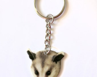 Possum Keychain Cute Funny Animal Lover Wildlife Accessories Gift Idea