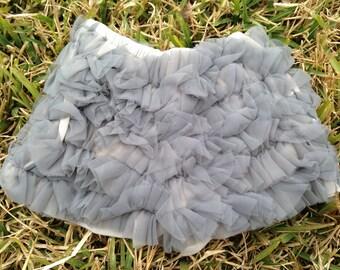 Gray Chiffon Ruffle shorts
