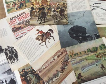 Military Themed Collage Paper