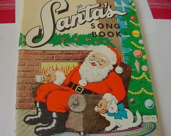 Vintage 1965 Santa's Song Book, Piano and Vocal Music, Thomas Music Company
