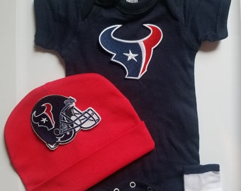 Houston Texans baby outfit/Houston Texans baby shower gift/texans baby outfit/baby houston texans/houston texans take home outfit
