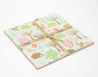 """5"""" stacker - Owl & Company - 12 pieces by Riley Blake"""