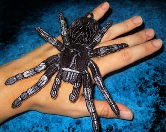 Brazilian Black Tarantula Spider Steam Punk  Iron on Patch