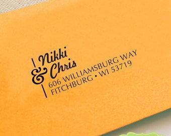CUSTOM ADDRESS STAMP, personalized pre inked address stamp, pre inked custom address stamp, return address stamp and proof - b5-51