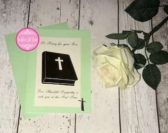 Exquisite handmade Sympathy Card