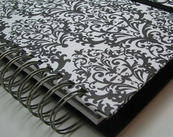 Greeting Card Organizer - Birthday Card Organizer Book - Card Organizer - Greeting Card Planner - Card Reminder - Card Storage - Damask