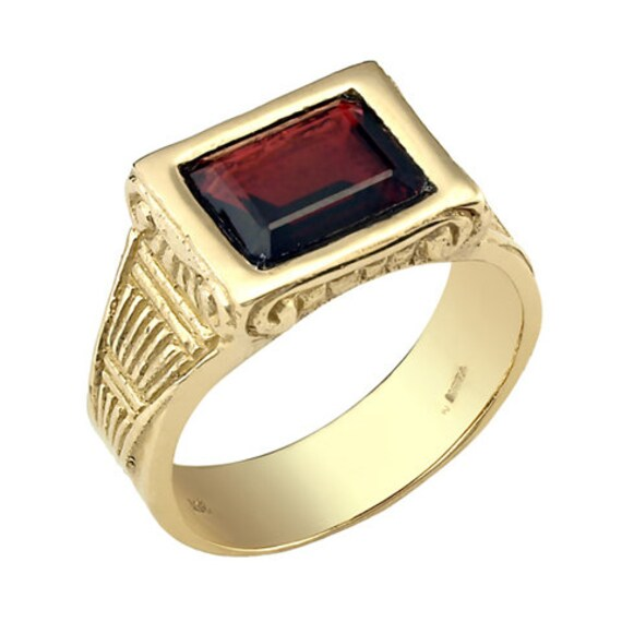 men 39 s ring men 39 s wedding ring red rectangle garnet. Black Bedroom Furniture Sets. Home Design Ideas