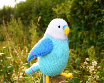 Clifford, budgie knitting pattern, budgie toy knitting pattern, budgie amigurumi pattern, PDF instant download, bird knitting pattern