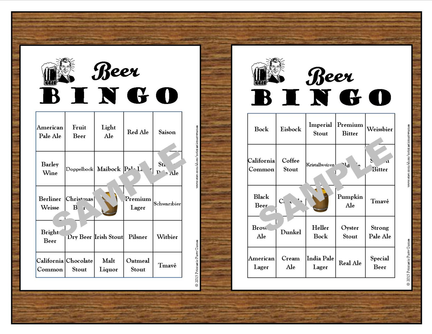 30 printable beer bingo cardsinstant downloaduse for zoom monicamarmolfo Choice Image
