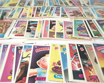 1980s Garbage Pail Kids Stickers Cards, Gross Funny Fathers Day Gift, Novelty Gag Gift Men, 1986 Topps Cabbage Patch Kids Spoof, SET OF 15