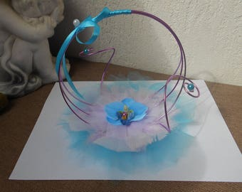 Original ring holder - purple turquoise and white