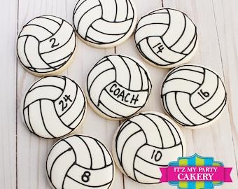 Volleyball Cookies - 1 Dozen