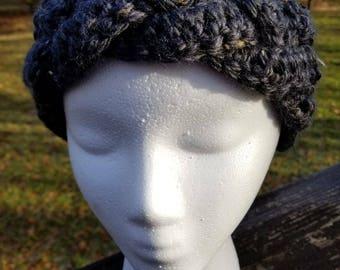 Crochet braided ear warmer