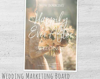 Wedding Marketing Template, Photoshop, Bridal Mini Session Template, Wedding Photography Marketing, Photography Marketing Board, Now Booking