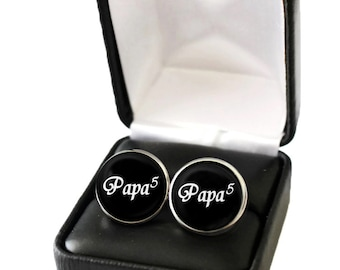 Personalized Grandparent Gift, Grandpa Gift, Grandfather Gift, Gift for Grandfather Cufflink, Papa Gift, Gift for Grandpa from Grandchildren