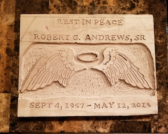 Wooden headstone (PERSONALIZE)