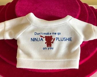 Ninja Plushie Design Tshirt or Hoodie