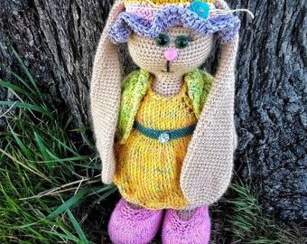 Handmade bunny. Handmade toy. Tilda bunny.