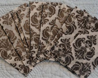 10 Small Vellum Coin Envelopes / Journal Pockets