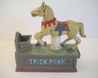 Mechanical Bank  Trick Pony Bank