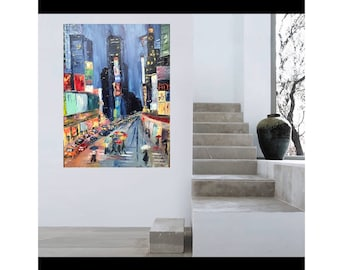 """Large Oil painting on canvas 30x40""""New York"""""""