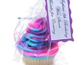 Cotton candy cupcake soap - Cotton candy party favor- Cotton candy favors - Cotton candy soap - Cupcake favors - Dessert soap - Novelty soap