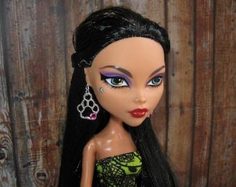 "Doll clothing jewelry earrings ""Paws"" 1/6 bjd barbie bratz obitsu ww wwe fashion doll blythe monster high 17"" ever after dc girls moxie liv"