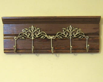 Coat Rack with Five Hook- Shabby Chic Coat Hooks, Wall Hooks - Ready to Ship