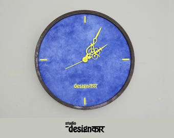 Wooden Hand Painted Wall Clock