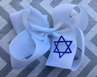 Star of David Hair Bow