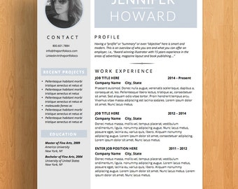 "Resume | CV Template and Cover Letter | Modern Resume Designs | Mac or PC | Fully Customizable (""Fairfax"")"