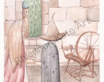 Little Briar-Rose, Art Print