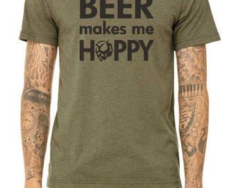 Beer Makes Me Hoppy Tee