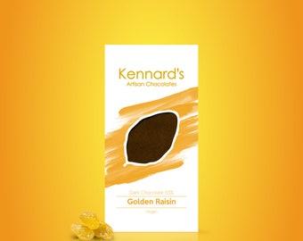 Vegan Golden Raisin chocolate bar