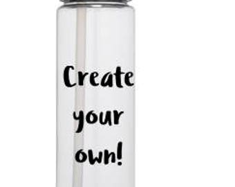 Create Your Own Clear Double Walled Water Bottle with Vinyl Decal