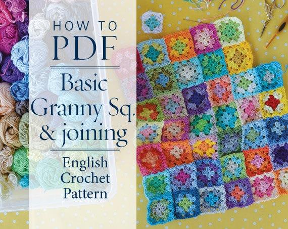 Crochet Pattern Basic Granny Square Joining Pattern Ready
