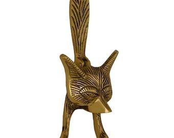 Vintage Solid Brass Fox Door Knocker