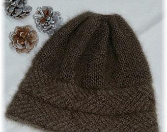 "Hat ""Hernando Island"" for men/women, handknit in pure and luxurious qiviut (Muskox underdown) MADE TO ORDER"