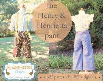 BG Originals The Henry-Henrietta pant pdf pattern (unisex pattern)