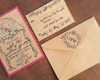 Barn wedding invite Etsy