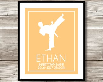 Martial Arts, Martial Arts Gift, Personalized Martial Arts Print, Martial Arts Wall Art, Martial Arts Team/Class Gift, Digital Print